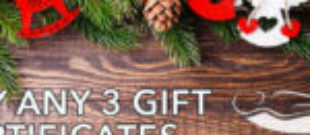 Christmas Specials. Buy 3, Get 1 Free.